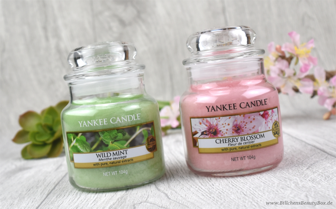 Yankee Candle Pure Essence Reihe - Wild Mint - Cherry Blossom - Linden Tree - Review & Duftbeschreibung