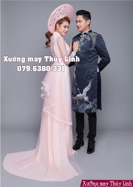 áo dài cưới cô dâu