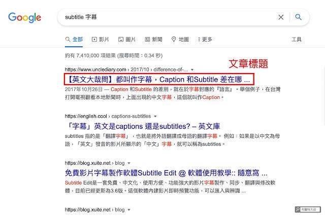 【網站 SEO】想提高搜尋排名,要先寫出 Google 喜歡的文章 (網站、部落格都適用) - Google SERP 頁面只會顯示 25-30 字的標題內容