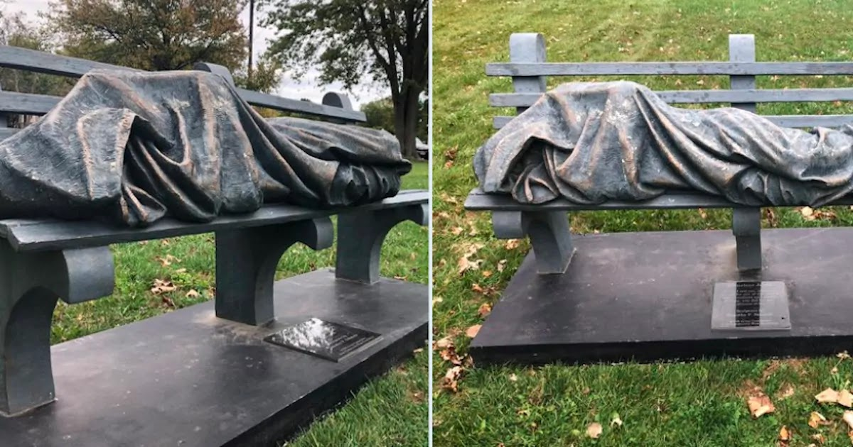 Someone Called The Police On This Statue Of Jesus 20 Minutes After Its Installation Thinking It Was A Homeless Person Sleeping