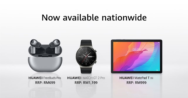 HUAWEI FreeBuds Pro, WATCH GT 2 Pro and MatePad T 10s Now Available Nationwide
