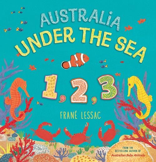Australia under the sea 1,2,3 by Frane Lessac