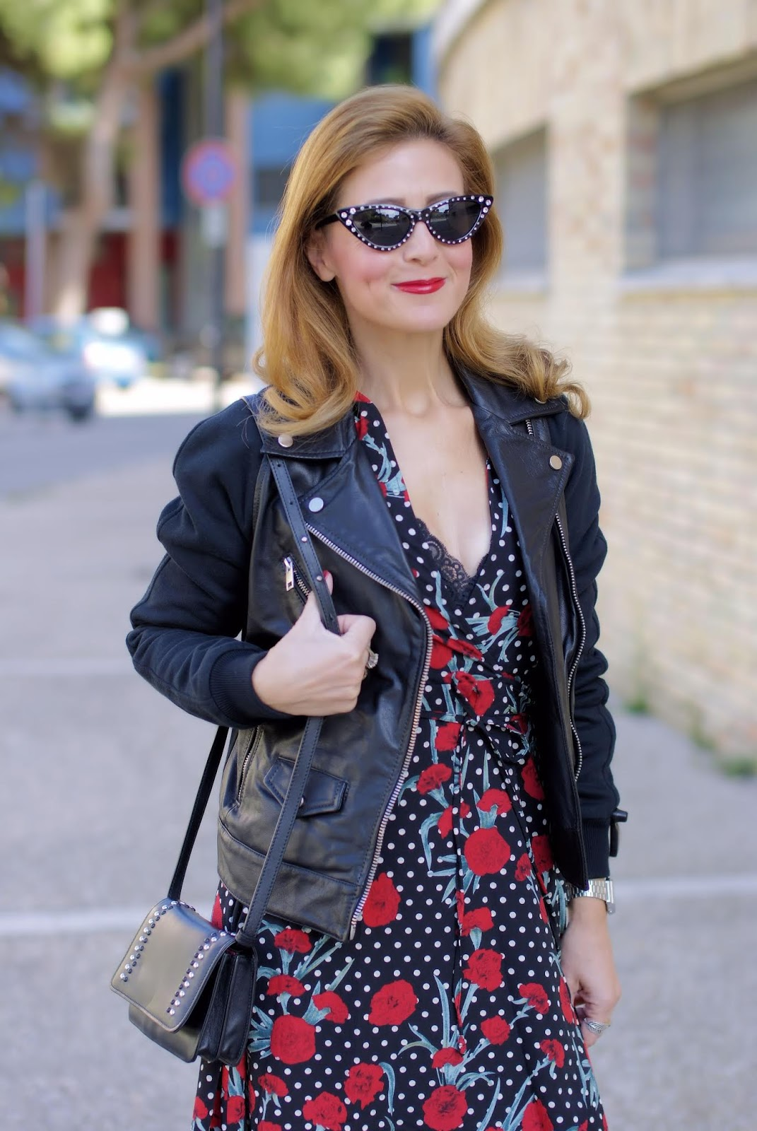 Diesel Leather jacket on Fashion and Cookies fashion blog, fashion blogger style