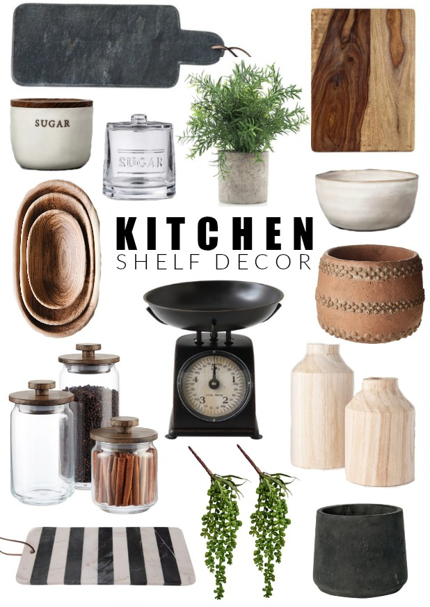Stylish kitchen shelf decor