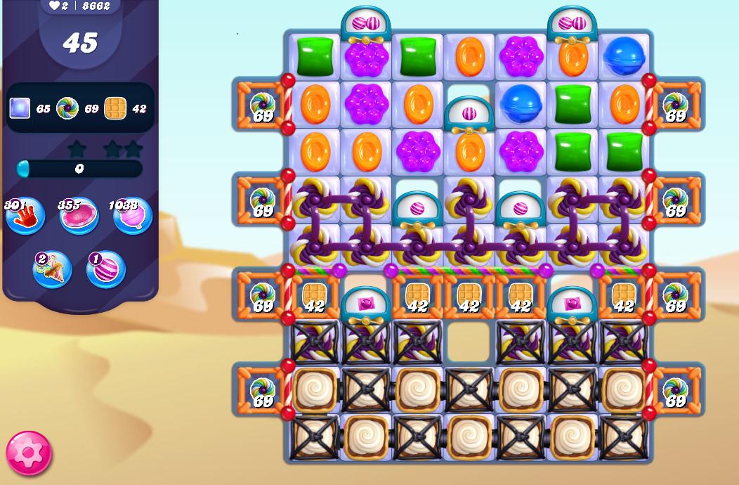 Candy Crush Saga level 8662