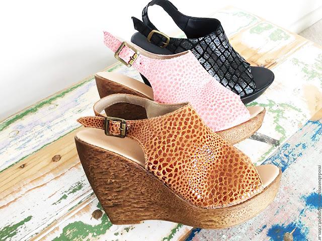 Moda verano 2017 sandalias con plataformas. Moda 2017 Pamuk Mujer.
