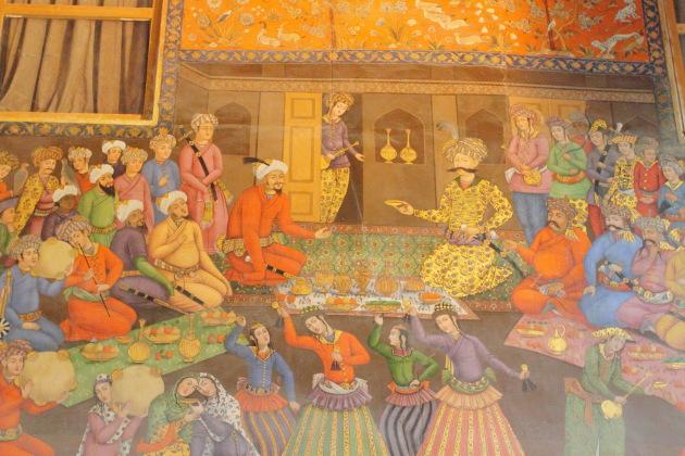 Frescoes inside Chehel Sotoun Palace, Isfahan