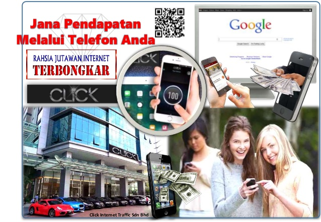 menjana pendapatan dengan CLICK Internet Traffic Mobile App