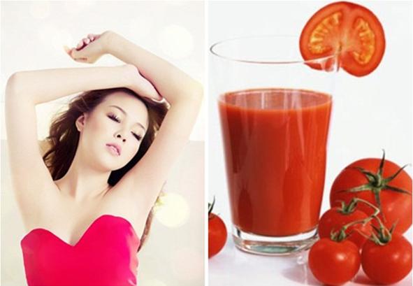 Cách trị hôi nách bằng cà chua