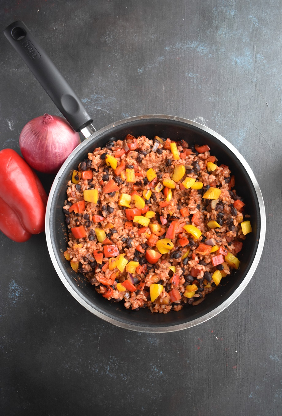 Gluten-free Mexican Rice and Beans Skillet
