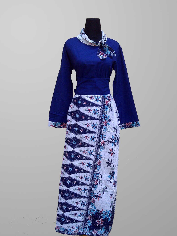 50 Gambar Model Baju Batik Gamis Kombinasi Terbaru  Ayeeycom