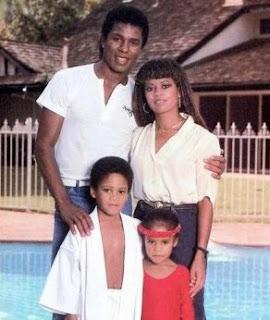 Hazel Gordy and her ex-husband Jermaine Jackson with their kids