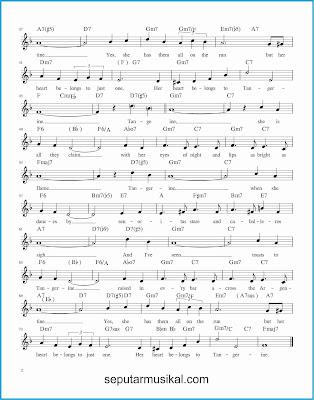 tangerine 2 lagu jazz standar