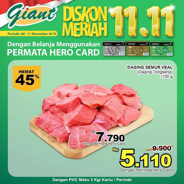 #Giant - #Promo Diskon Meriah 11.11 Periode 08 - 11 November 2019