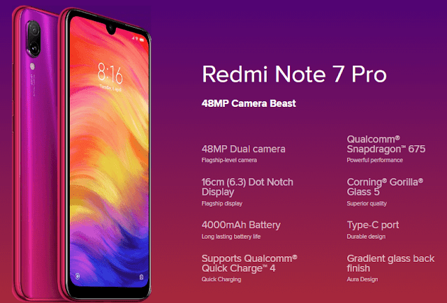 Xiaomi Redmi Note 7 Pro - Unveiled With 48MP Dual Camera