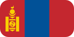 Rounded flag of Mongolia