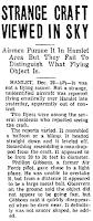 Strange Craft Viewed In Sky - The Gastonia Gazette (Gastonia, North Carolina) 12-29-1949