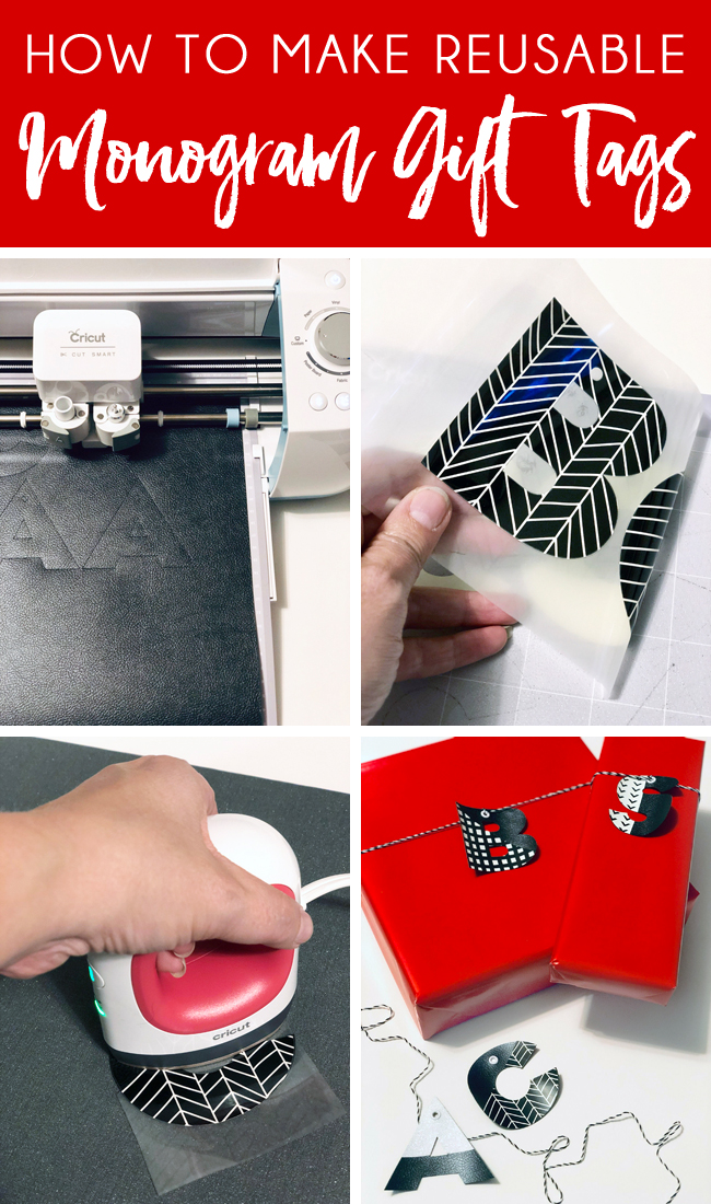 Easy DIY instructions to make reuable gift tags with Cricut