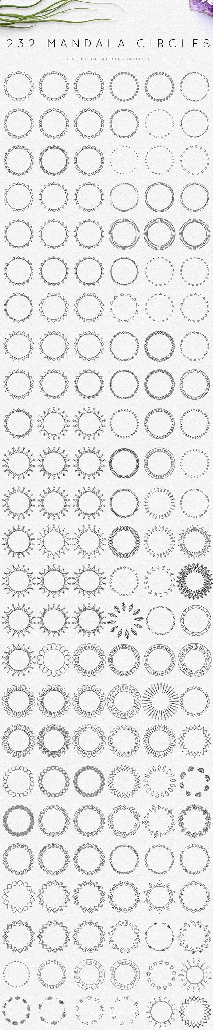 232 Mandala Circles
