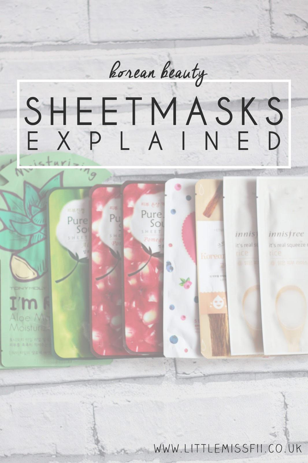 korean beauty secrets explained - sheetmasks