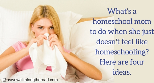 When a homeschool mom is sick