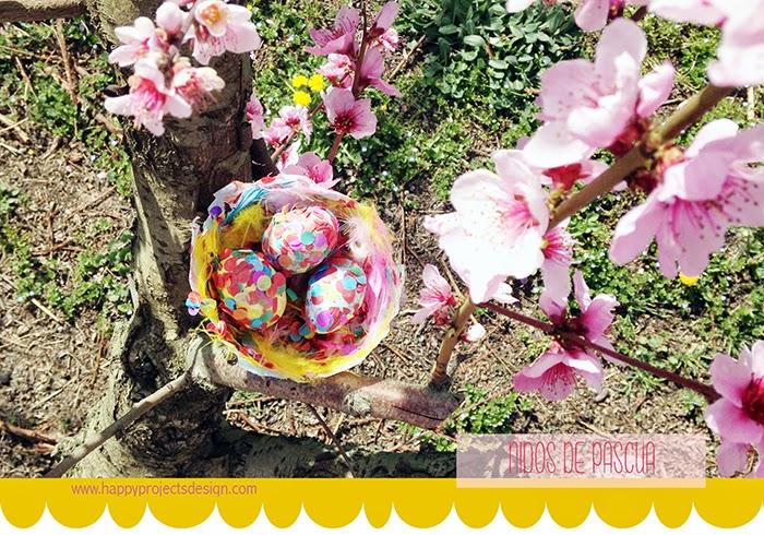 Nidos y huevos de Pascua DIY