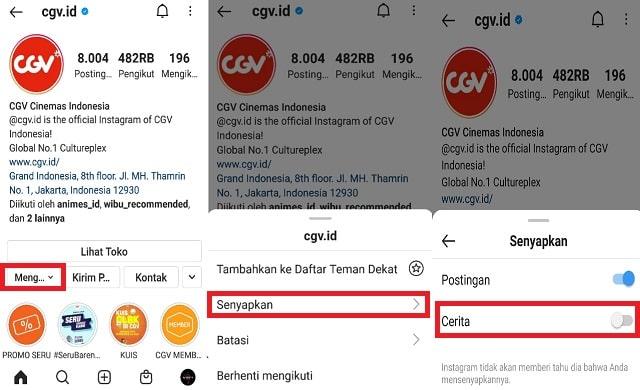 Cara Mute Story Instagram Orang Lain