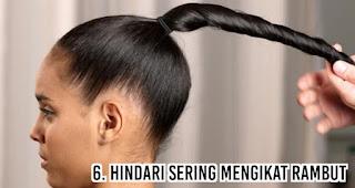 Hindari sering mengikat rambut