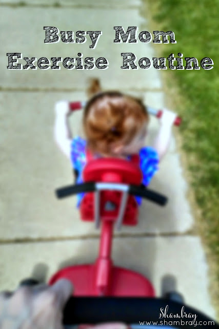 Check out this fantastic exercise routine for busy moms! Being a mom can almost feel impossible to get a good workout in, especially with young kids.  This post will help you!