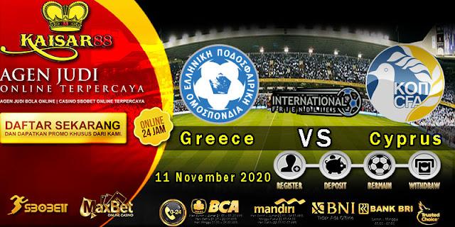 Prediksi Bola Terpercaya Laga Friendlies Greece vs Cyprus 11 November 2020