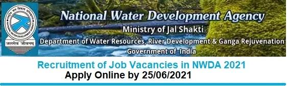 National Water Development Agency Vacancy Recruitment 2021