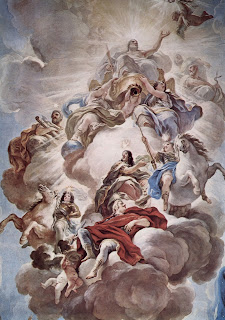 Detail from Giordano's ceiling fresco at the Palazzo Medici-Riccardo in Florence