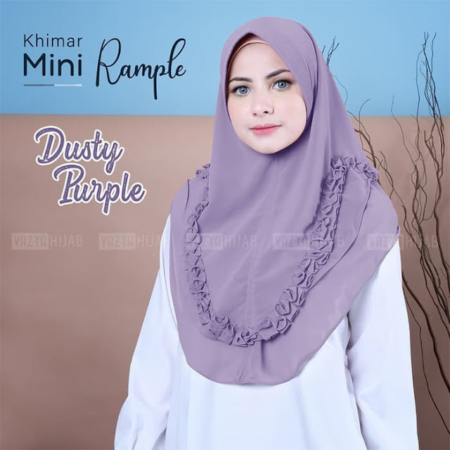 Jilbab Instan Terbaru Khimar Mini Rample Murah
