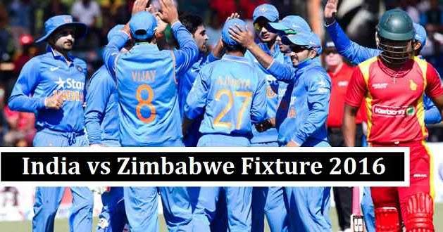 India Vs Zimbabwe Cricket Schedule 2016