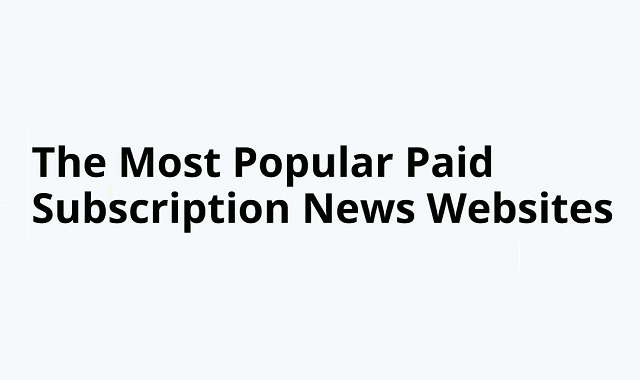 Which news websites have the highest number of paid subscribers?