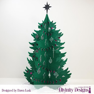 Custom Dies: Christmas Tree Table Top Home Decor, Christmas Tree Skirt