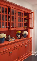 Orange hutch for dining room furniture