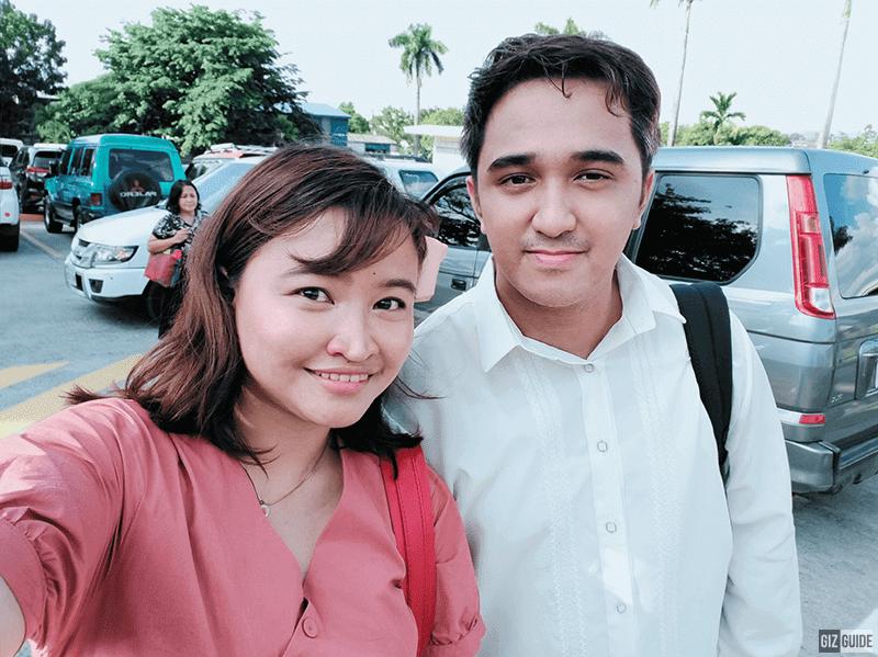 AI-beautified selfie