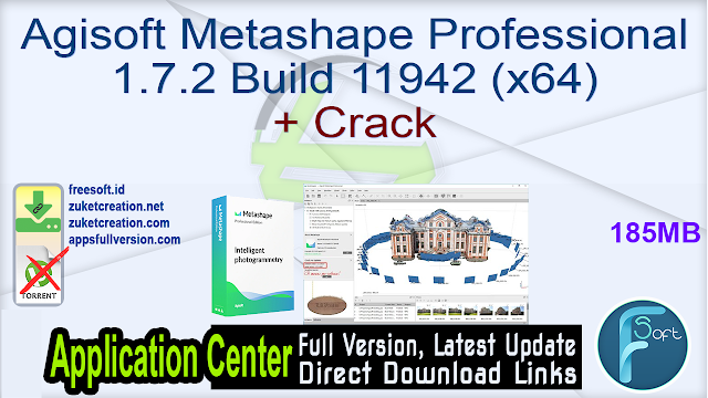 Agisoft Metashape Professional 1.7.2 Build 11942 (x64) + Crack