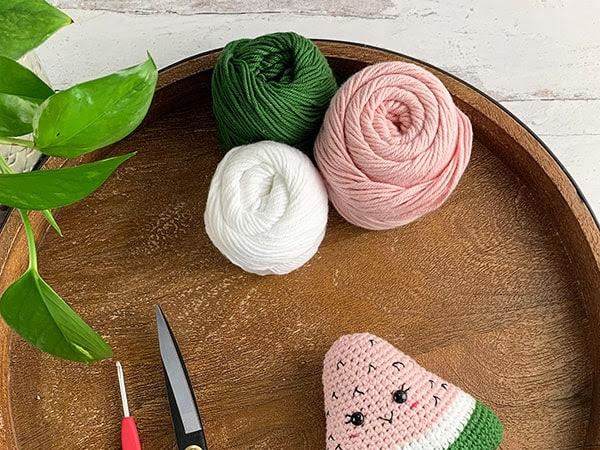 Free Crochet Watermelon Pattern