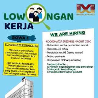 Lowongan Kerja Koordinator Business Magnet di PT Mandala Multifinance Tbk