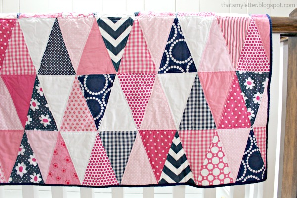 diy triangle quilt