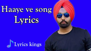 Haaye ve song lyrics