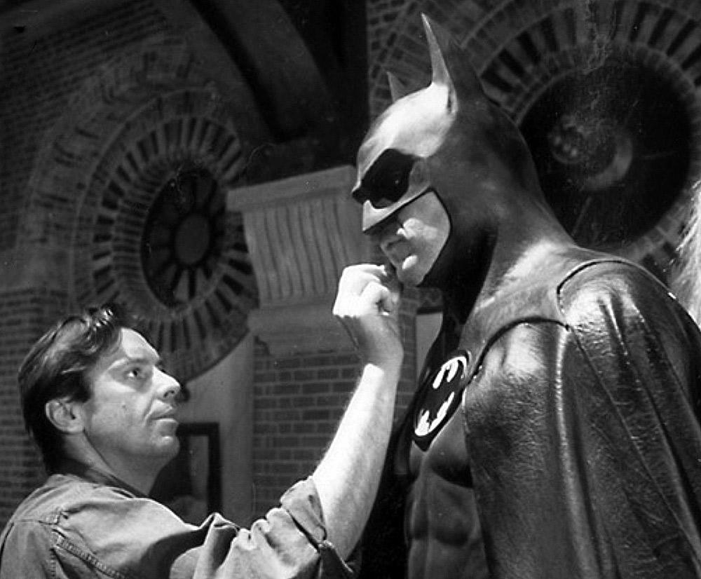 Michael Keaton na produção de Batman