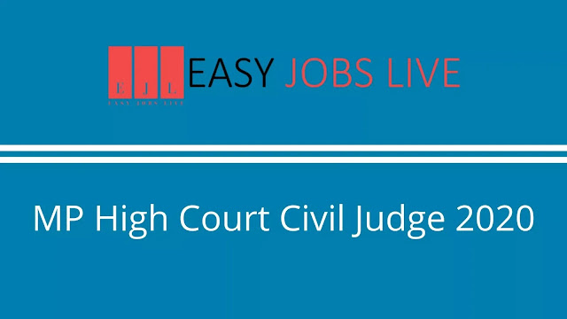 MP High Court Civil Judge 2020