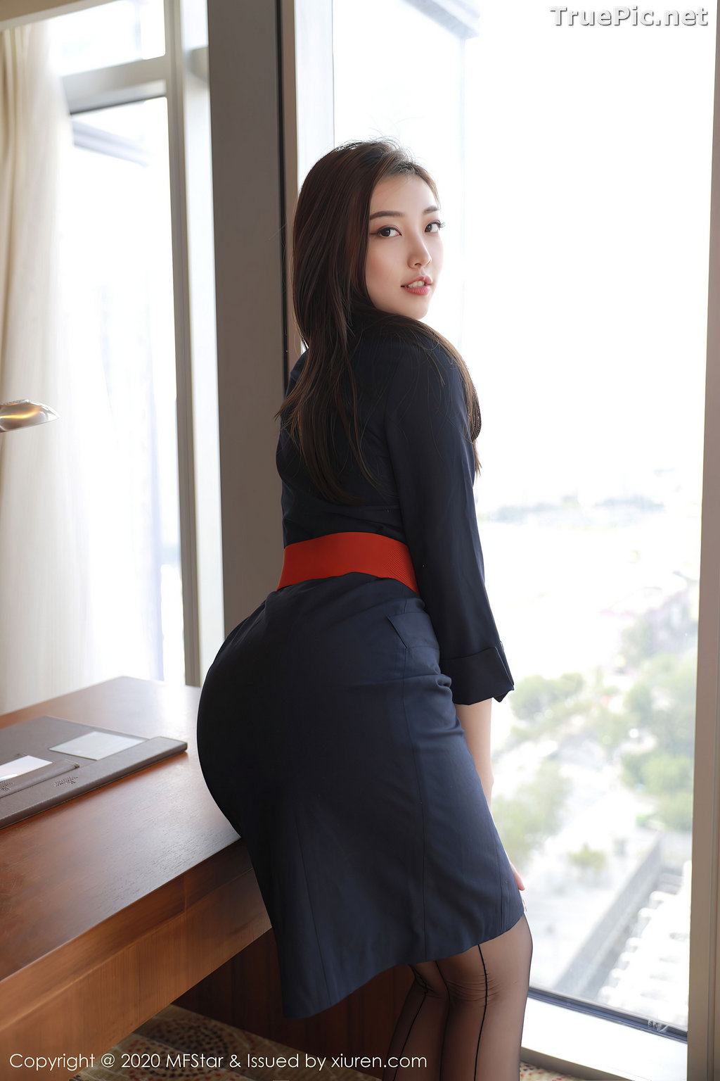 Image MFStar Vol.404 – Chinese Model – Zheng Ying Shan (郑颖姗) – Sexy Office Girl - TruePic.net - Picture-9
