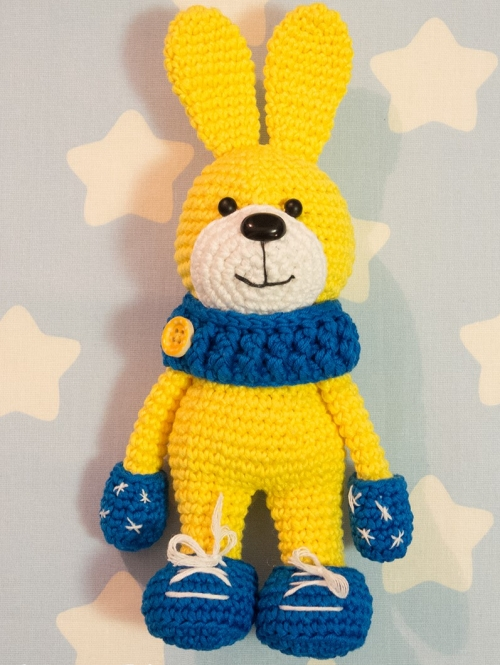 Crochet Bunny with Snood & Mittens - Free Pattern