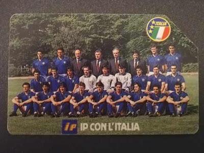 La carta (o scheda) telefonica IP degli azzurri a Italia '90