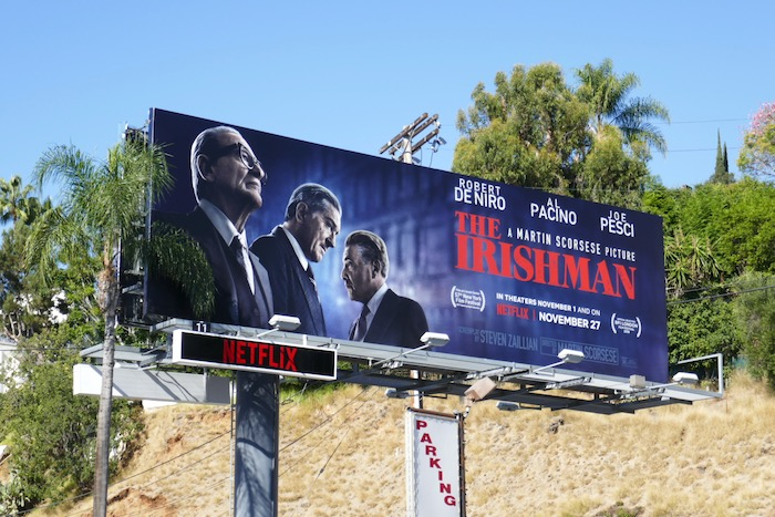 Irishman film billboard