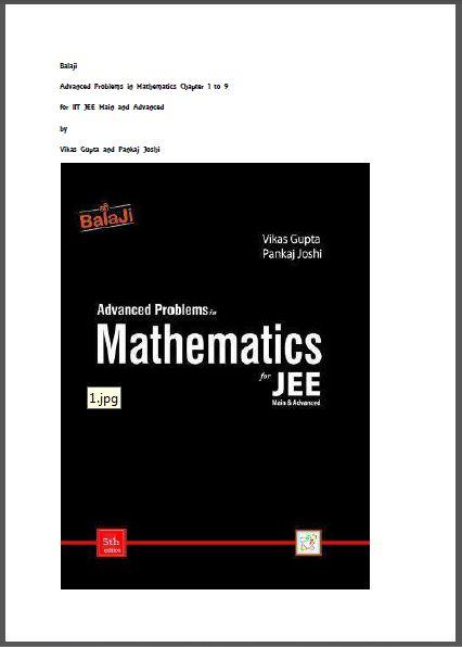 Mathematics (Advanced Problems) : for JEE Exam PDF Book